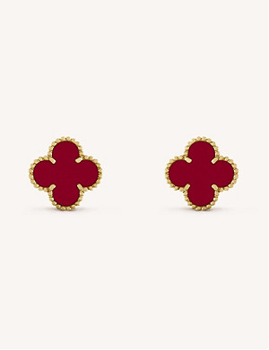 VAN CLEEF & ARPELS Vintage Alhambra gold and carnelian earrings