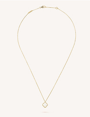 VAN CLEEF & ARPELS Sweet Alhambra gold and mother-of-pearl pendant