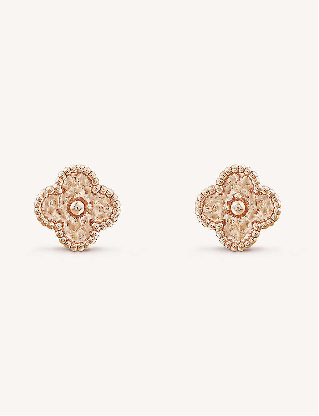 af6e6ff73 VAN CLEEF & ARPELS - Sweet Alhambra gold stud earrings | Selfridges.com