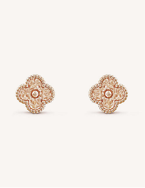 2a87b63e6c28 VAN CLEEF   ARPELS Sweet Alhambra gold stud earrings