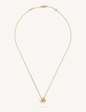 VAN CLEEF & ARPELS Frivole yellow-gold and diamond pendant