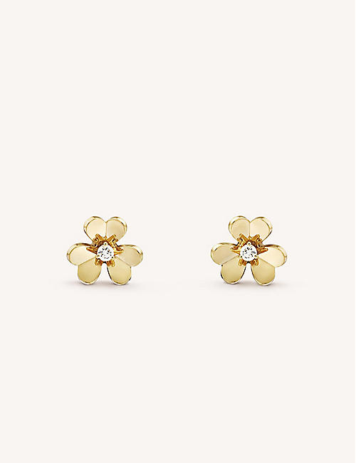 3fa57f1cc VAN CLEEF & ARPELS Frivole yellow-gold and diamond earrings