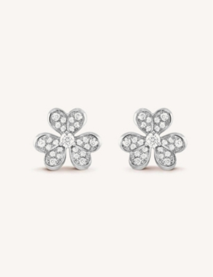 VAN CLEEF & ARPELS Frivole white gold and diamond earrings