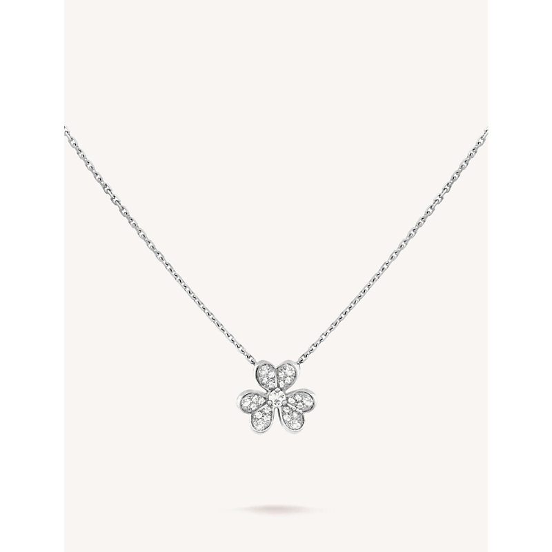VAN CLEEF & ARPELS | Frivole White Gold And Diamond Necklace | Goxip