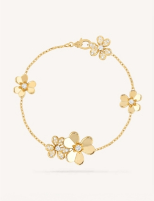 VAN CLEEF & ARPELS Frivole yellow gold and diamond bracelet