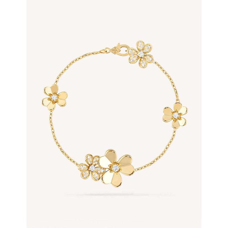 VAN CLEEF & ARPELS | Frivole Yellow Gold And Diamond Bracelet | Goxip