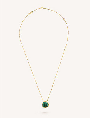 VAN CLEEF & ARPELS Perlée Couleur yellow-gold and malachite necklace