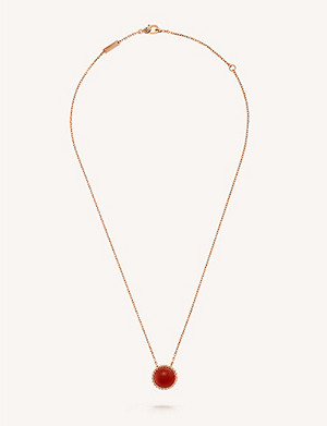 VAN CLEEF & ARPELS Perlée Couleur rose-gold and carnelian necklace