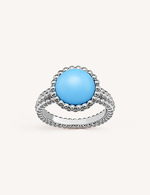 VAN CLEEF & ARPELS Perlée Couleurs white-gold and turquoise ring