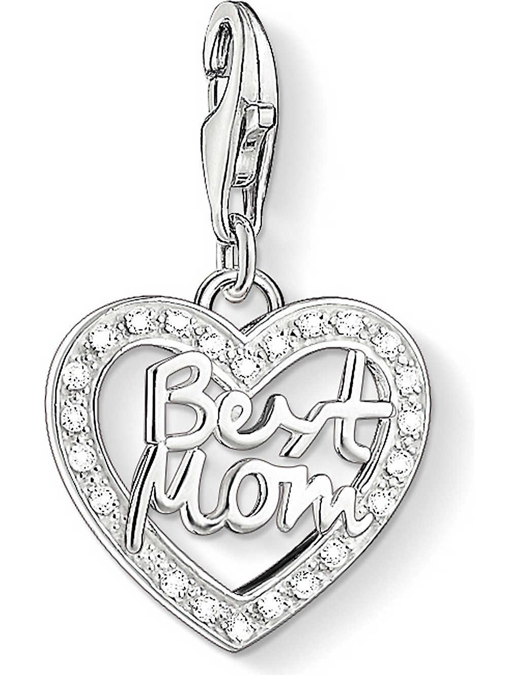 c5deff473a7ed THOMAS SABO - Charm club silver and zirconia best mom charm pendant ...