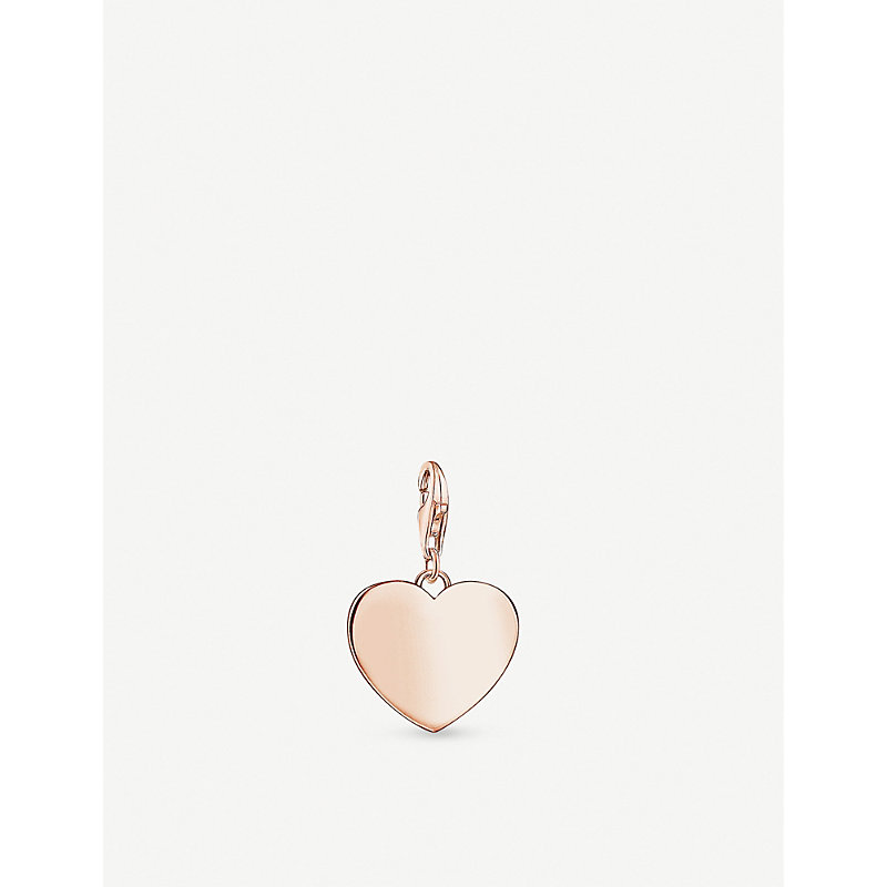THOMAS SABO | Heart 18ct Rose Gold-Plated Charm | Goxip