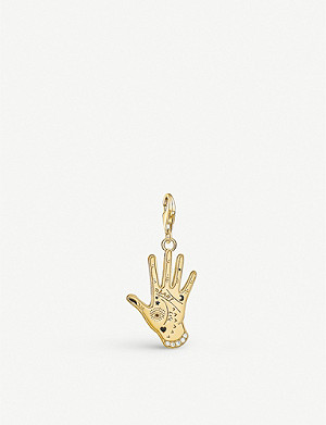 THOMAS SABO Charm club 18ct gold plated Vintage Hand pendant