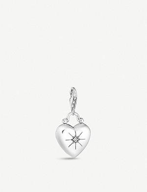 THOMAS SABO Heart Locket sterling silver and zirconia charm