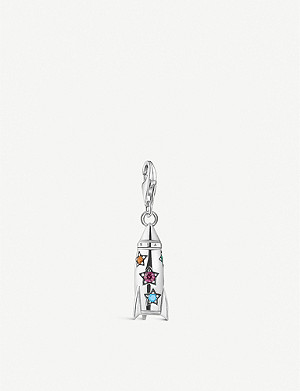 THOMAS SABO Charm Club rocket sterling silver and gemstone charm