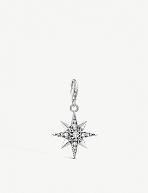 THOMAS SABO Charm Club Royalty Star sterling silver and cubic zirconia charm