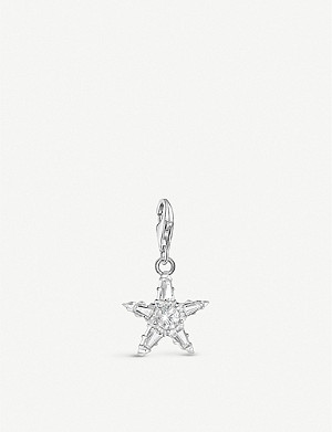 THOMAS SABO Star sterling silver and zirconia charm
