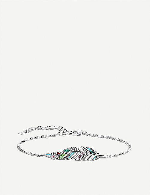 THOMAS SABO: Tropical feather sterling silver bracelet