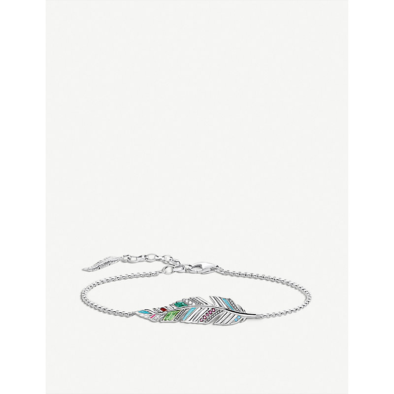 THOMAS SABO | Tropical Feather Sterling Silver Bracelet | Goxip