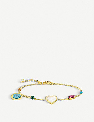 THOMAS SABO Riviera multi-charm 18ct yellow-gold bracelet
