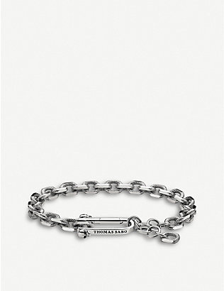 THOMAS SABO: Iconic Chains sterling silver chunky chain bracelet