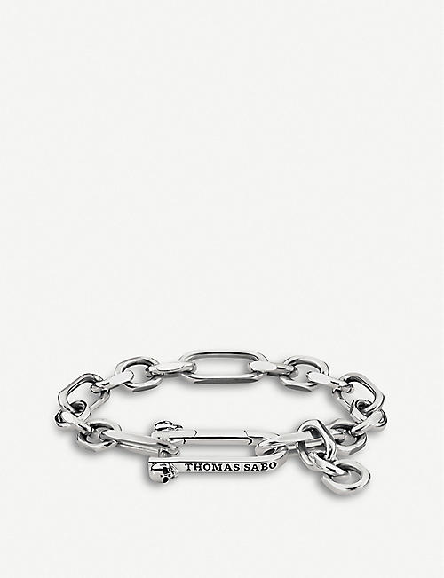 THOMAS SABO: Iconic Chains sterling silver texutured chain bracelet