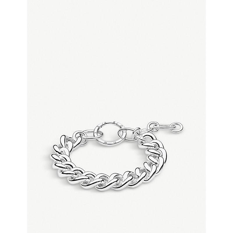 THOMAS SABO | Circle Sterling Silver Chunky Curb Chain Bracelet | Goxip