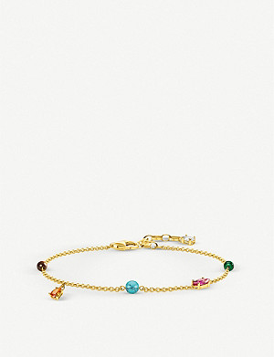 THOMAS SABO Paradise Colours 18ct yellow gold-plated sterling silver bracelet