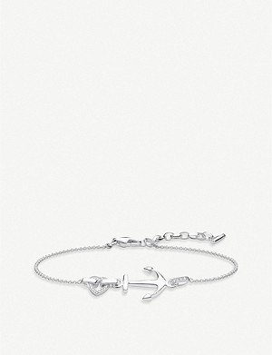 THOMAS SABO Love Heart and Anchor sterling silver bracelet
