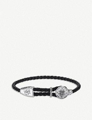 THOMAS SABO Rebel At Heart sterling silver and braided leather bracelet