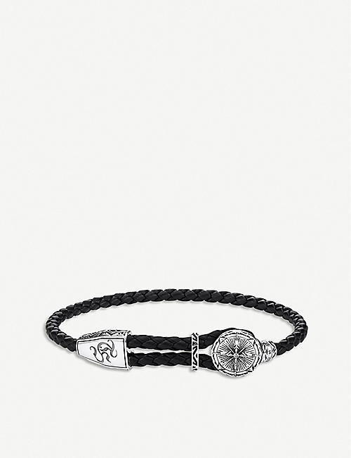 THOMAS SABO: Rebel At Heart sterling silver and braided leather bracelet