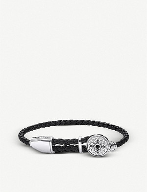 THOMAS SABO Rebel at Heart braided leather and sterling silver bracelet