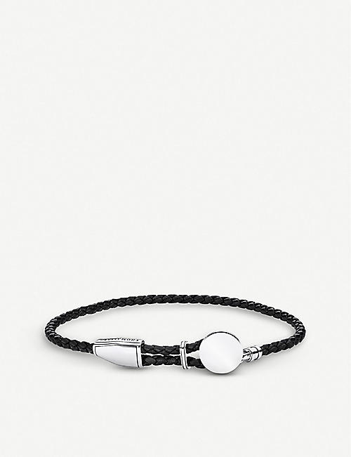 2390883de8e4 THOMAS SABO Rebel at Heart braided leather and sterling silver bracelet