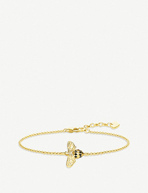 THOMAS SABO Bee 18ct yellow gold-plated silver and zirconia bracelet