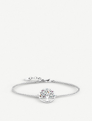 THOMAS SABO Paradise Colours Tree of Love sterling silver and gemstone bracelet