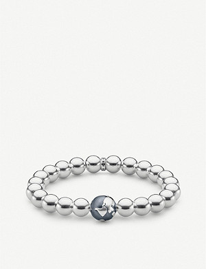THOMAS SABO Globe sterling silver beaded bracelet