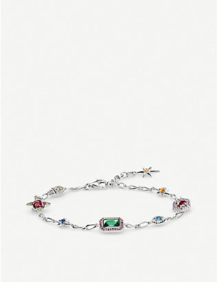 THOMAS SABO: Magic Stones Lucky Charms sterling silver bracelet
