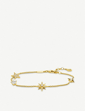 THOMAS SABO Magic Stars zirconia 18ct gold-plated bracelet