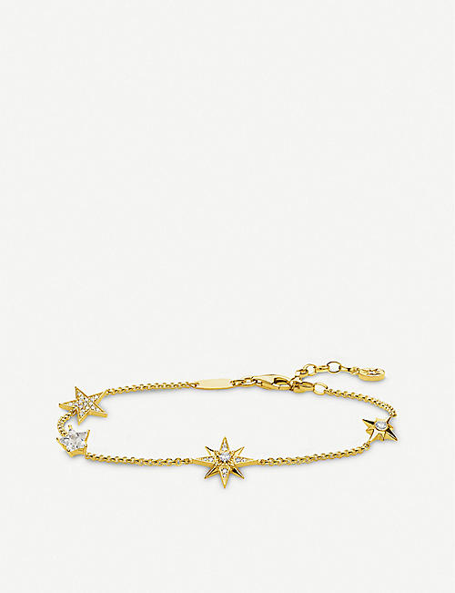 THOMAS SABO: Magic Stars zirconia 18ct gold-plated bracelet