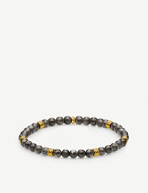 THOMAS SABO Lucky Charm marble and gold-plated marble beaded bracelet