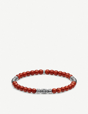 THOMAS SABO Lucky Charm coral and sterling silver beaded bracelet