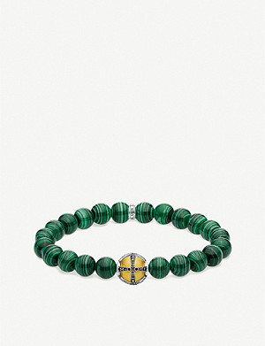 THOMAS SABO Royal Cross gold and silver-plated orb bead bracelet