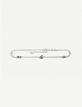 THOMAS SABO: Sterling silver and gemstone ankle bracelet