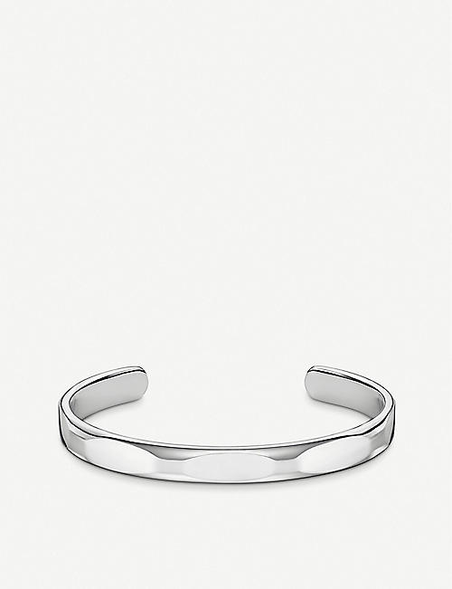THOMAS SABO Minimalist sterling silver cuff bangle