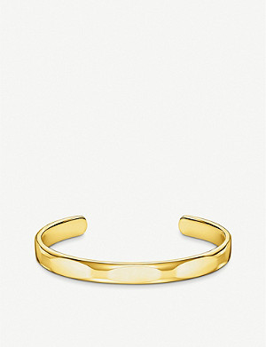 THOMAS SABO Minimalist 18ct gold-plated cuff bangle