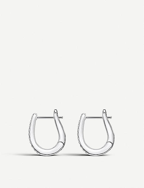 THOMAS SABO Hinged sterling silver and zirconia hoop earrings