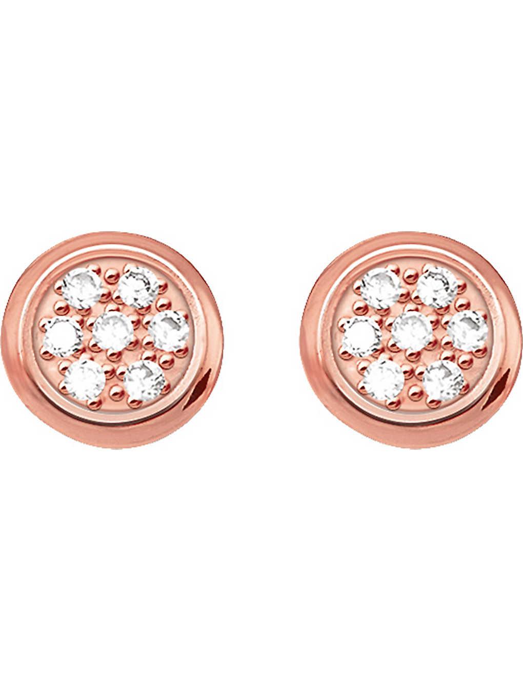 00b8c1db7 THOMAS SABO - Glam & Soul rose gold-plated and diamond studs ...