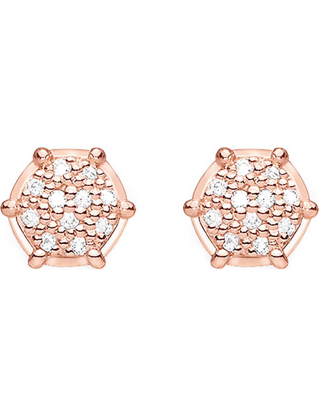 18fff7cc5 THOMAS SABO - Glam & Soul 18ct rose gold-plated and diamond earrings ...