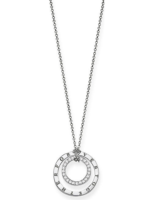THOMAS SABO: Forever Together short circle sterling silver necklace
