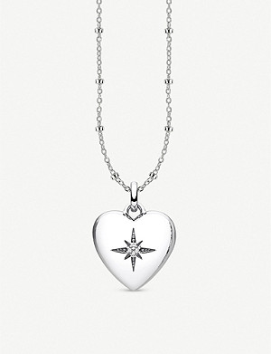 THOMAS SABO Glam & Soul heart-shaped sterling silver and diamond locket