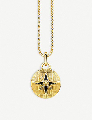 THOMAS SABO Nautical Star 18ct yellow gold-plated and diamond locket